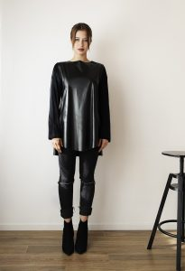 Asymétrie black leather