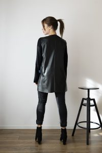 Asymétrie black leather